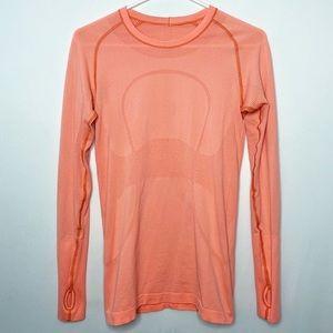 Lululemon Swiftly Tech Long Sleeve Top Orange